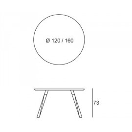 Oblique stół okrągły Prostoria
