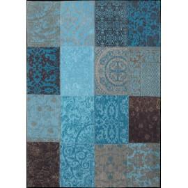 Dywan patchwork Turquoise Louis De Poortere